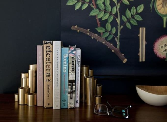 faux gold bookends
