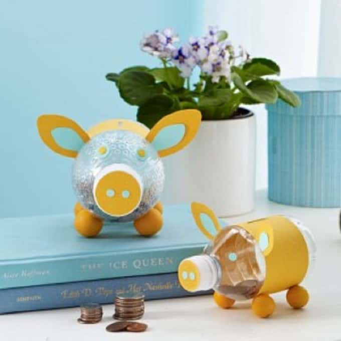 water bottle piggy bank