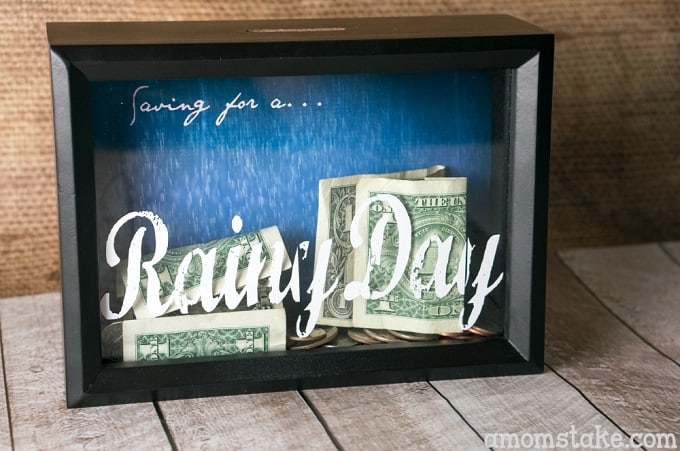 DIY shadow box coin bank