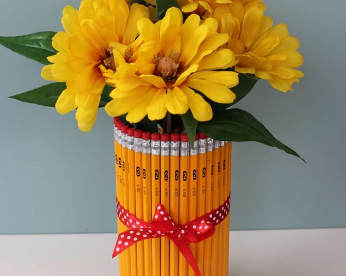 pencil flower vase
