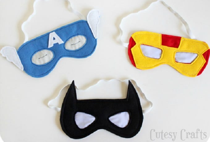DIY superhero sleep mask
