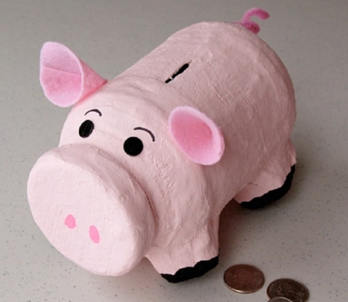 little DIY piggy bank