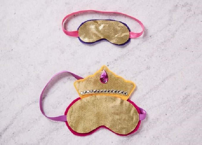 DIY princess inspired sleep masks