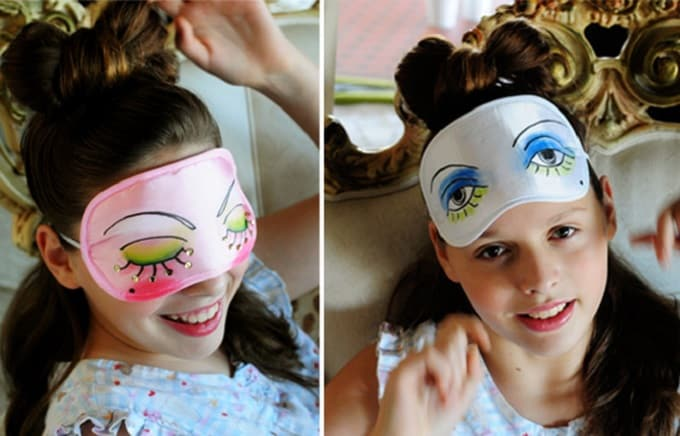 sparkly DIY sleep masks