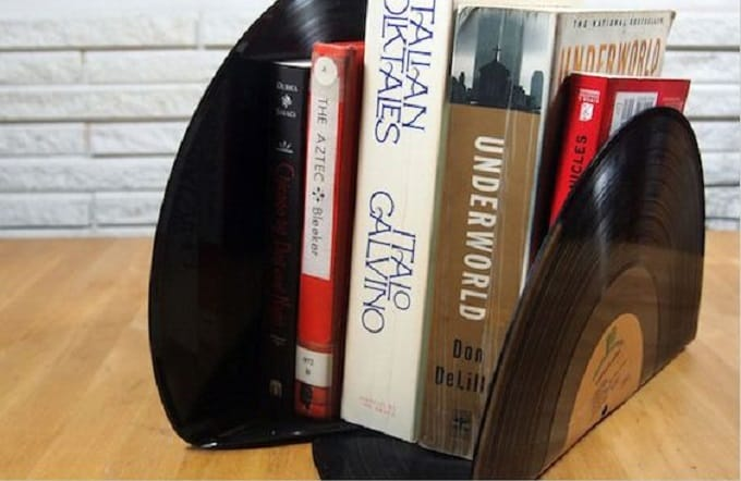 own vinyl bookends