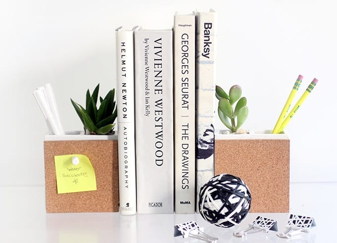 succulent supply holder bookends