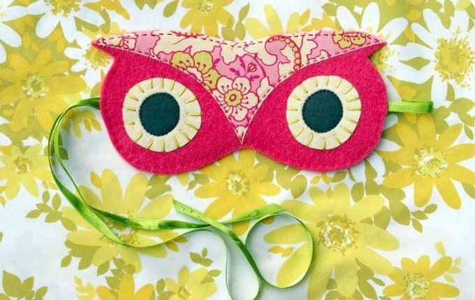 DIY owl sleep mask