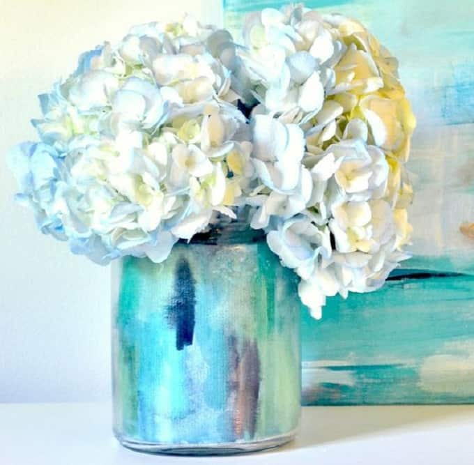 watercolor diy vase