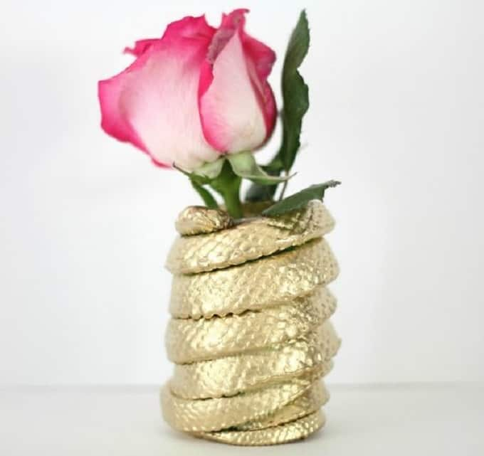 DIY coiled snake vase