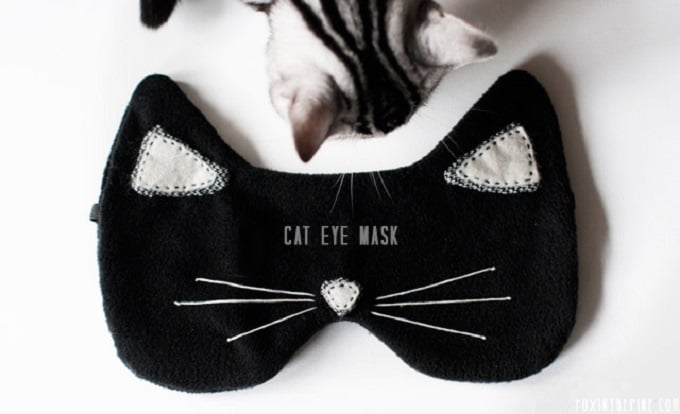 DIY cat inspired sleep mask
