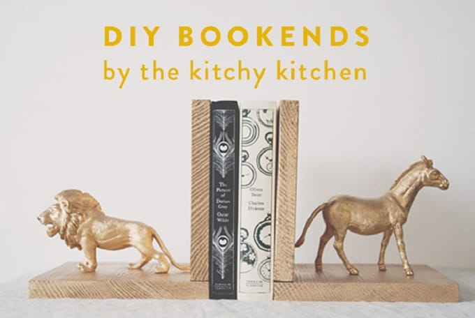 animal figurine bookends
