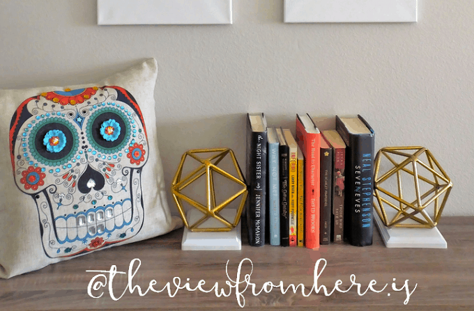 DIY orb bookends