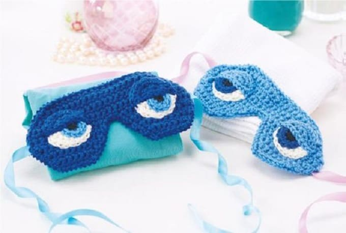 crochet eye sleep masks