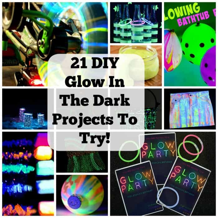 Get The Party Started With These 21 Glow In The Dark Ideas. | Coolcrafts.com
