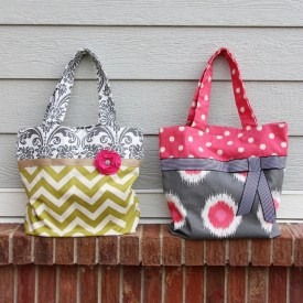 DIY Two-Toned Fabric Tote