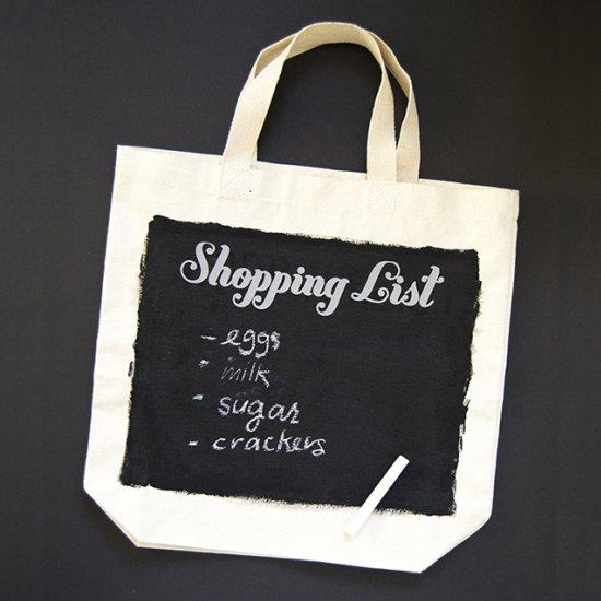 DIY Chalkboard Grocery Tote