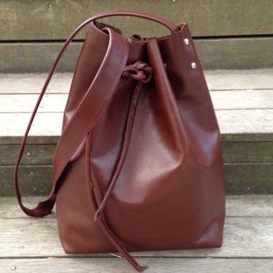 DIY Leather Bucket Bag