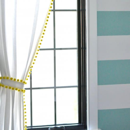 DIY Pom Pom Trim Curtains