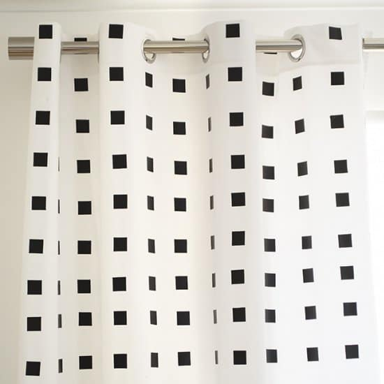 No-Paint Black & White Curtains