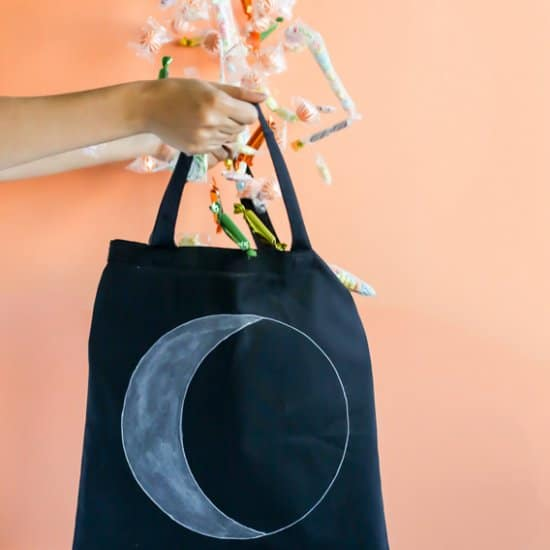 DIY Glowing Moon Halloween Treat Bag