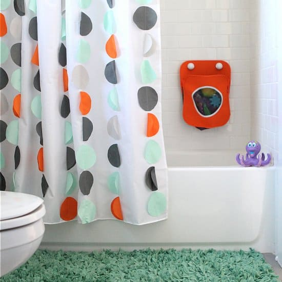 Land Of Nod Inspired DIY Kids Shower Curtain