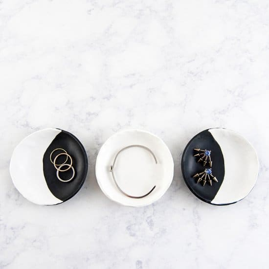 Glow In The Dark Moon Phase Ring Dishes