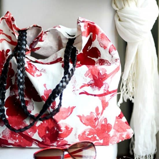 DIY Tote Bag Using Cloth Napkins