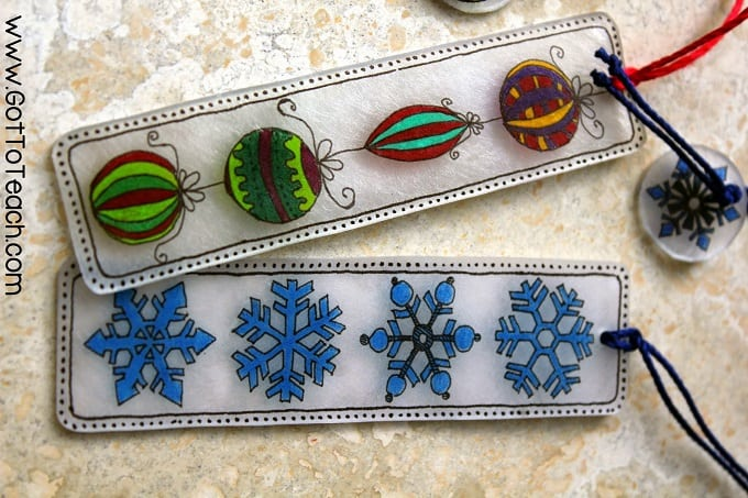 Shrinky dink bookmarks