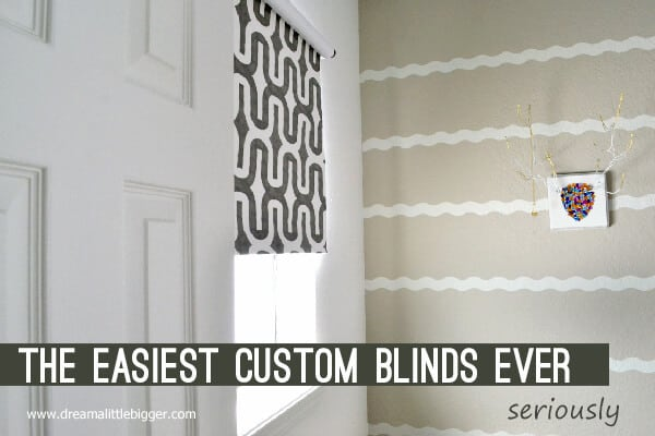 Easiest DIY Blinds Ever