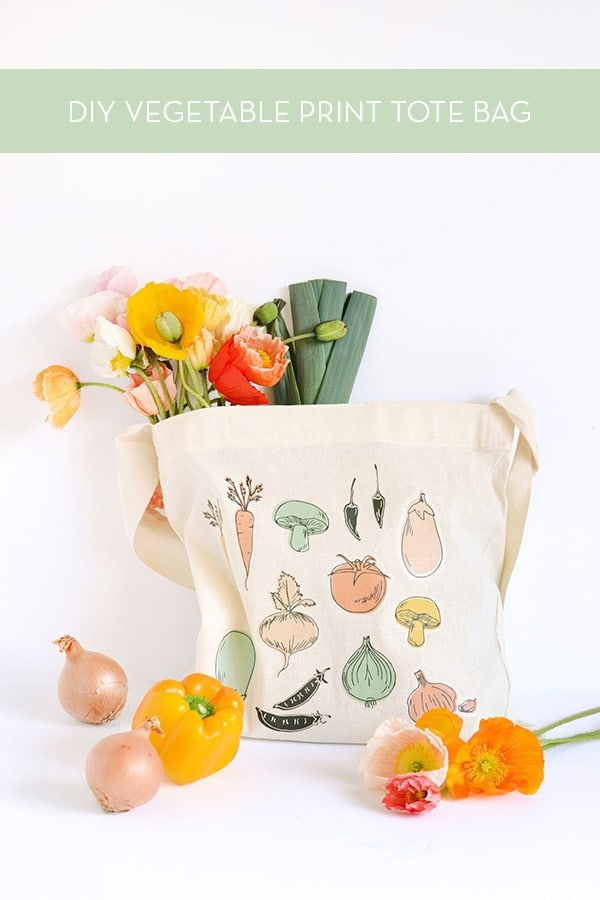 DIY Vegetable Tote