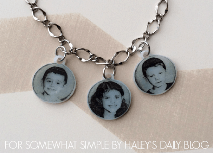 DIY shrinky dink necklace