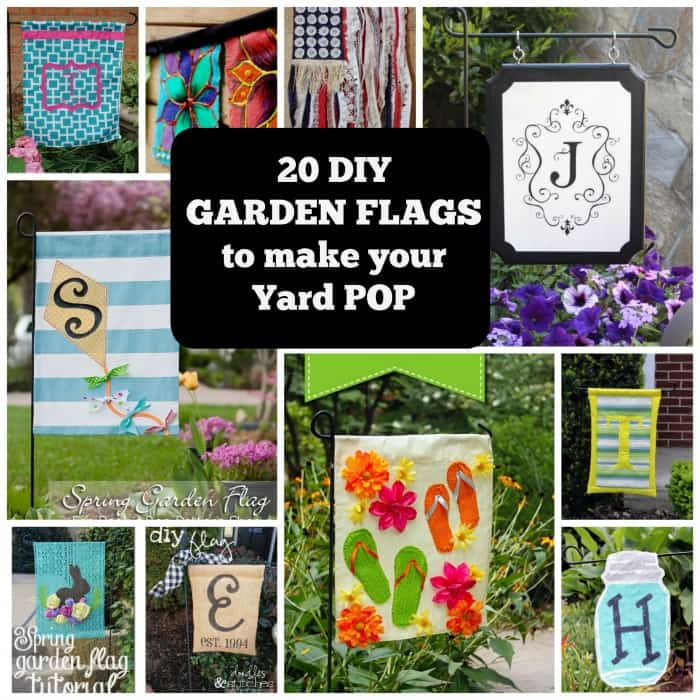 Make Your Yard Pop With These 20 DIY Garden Flags. | Coolcrafts.com