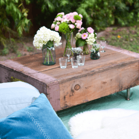 DIY Repurposed Crate Coffee Table