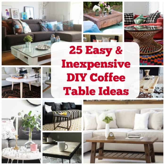 Create A Beautiful Space With These 25 DIY Coffee Table Ideas. | Coolcrafts.com