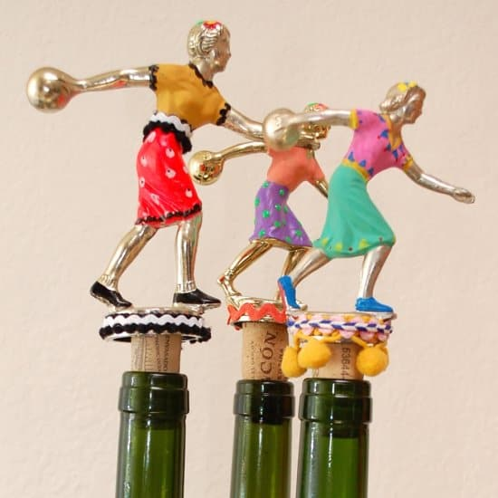 Bowling Trophy Wine Bottle Stopper