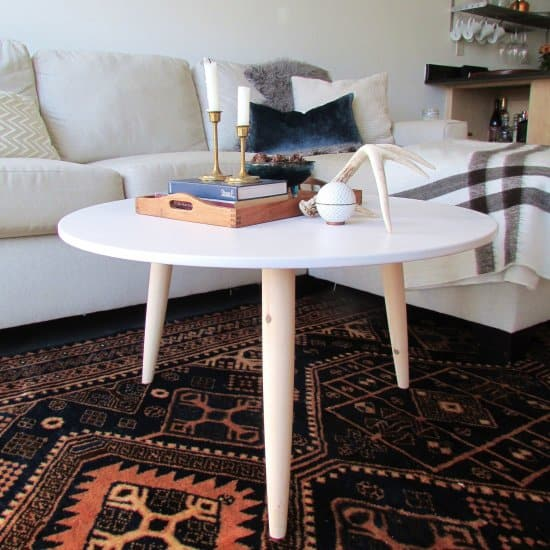 DIY Danish Modern Style Coffee Table