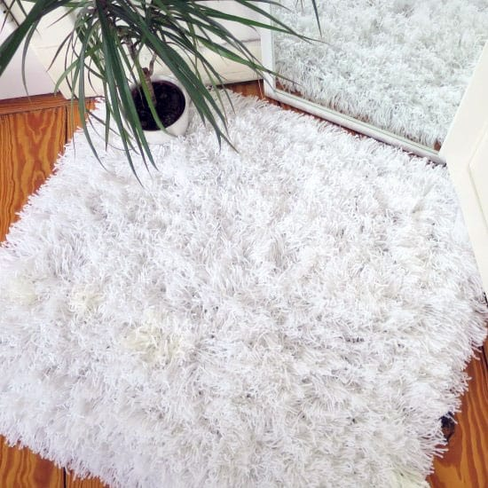 Fluffy Shaggy Wool Yarn Tassel Rug