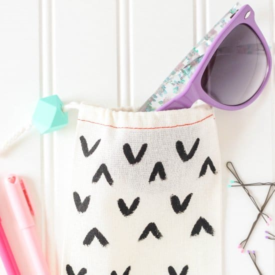 DIY Sunglasses Drawstring Accessories Bag