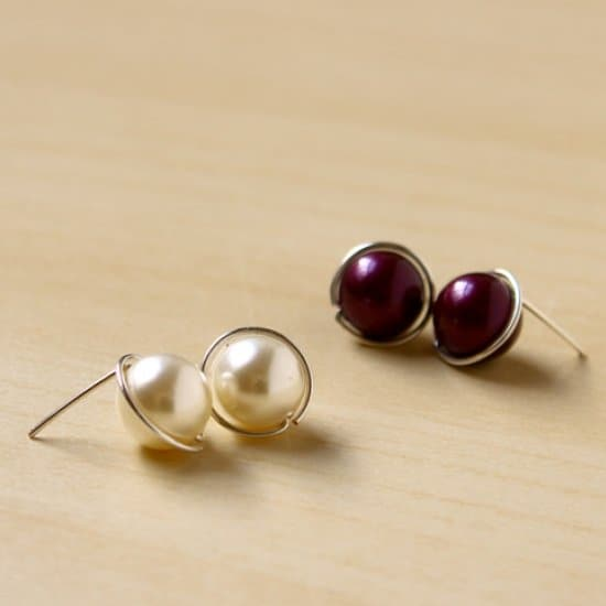 DIY Swarovski Pearl Stud Earrings