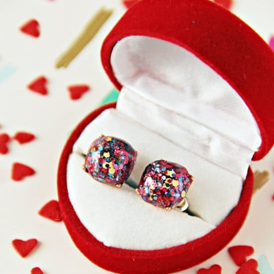 DIY Kate Spade Glitter Earrings