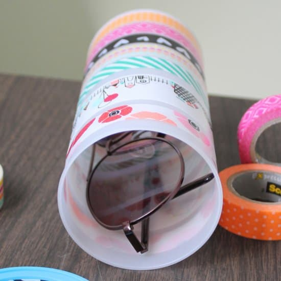 DIY Washi Tape Sunglasses Case