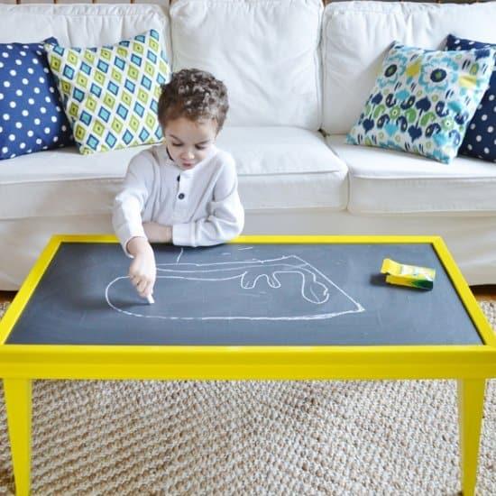 DIY Chalkboard Coffee Table