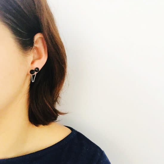 DIY Chain Back Double Stud Earrings