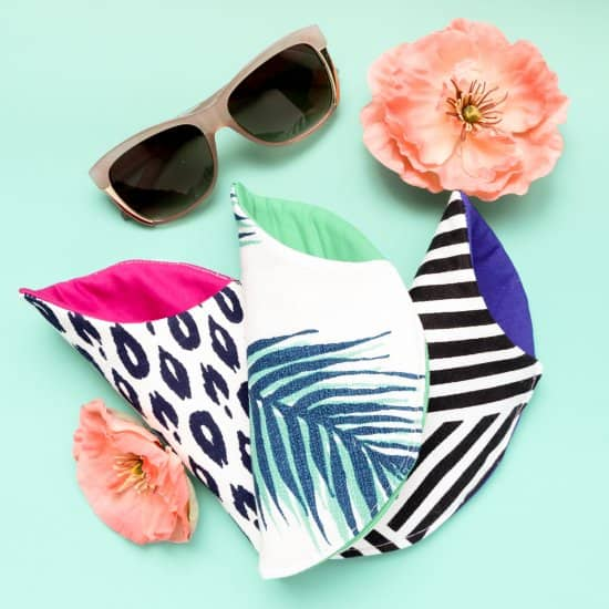 Pretty Printed Sunglasses Case