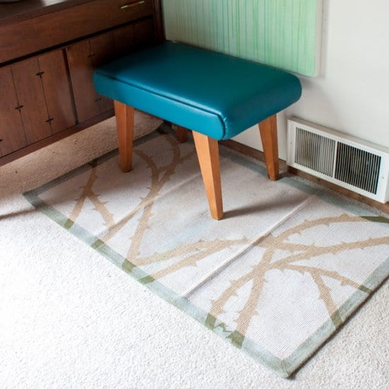 DIY Spray Paint A Briar Rug