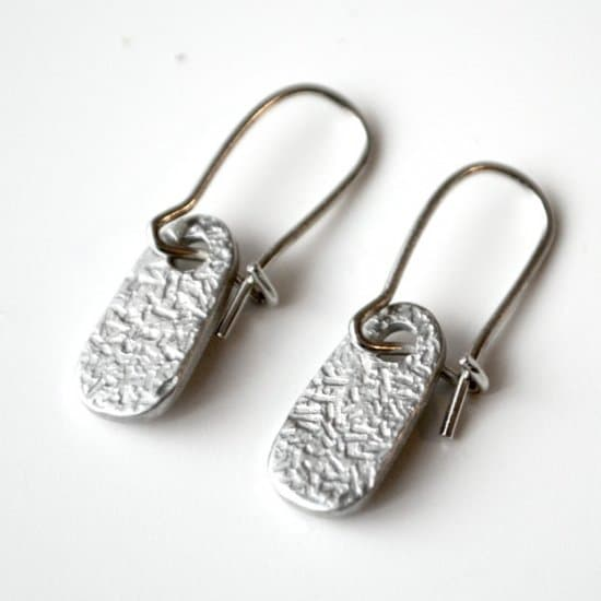 Textured Stamped Dangle Earrings