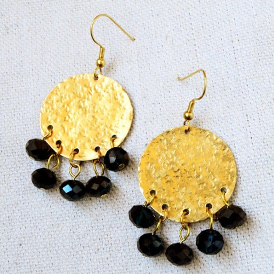 Textured Circle Boho Earrings