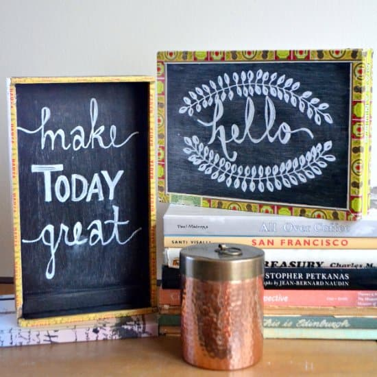 DIY Cigar Box Chalkboards