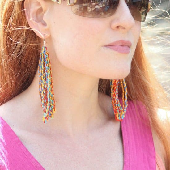 DIY Braided Fringe Earrings