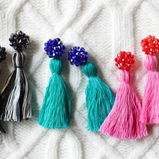 DIY Crystal Tassel Earrings